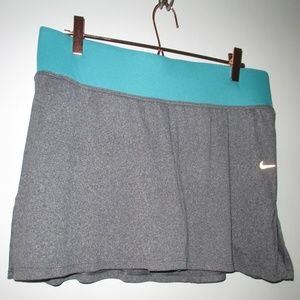 NIKE dri fit TENNIS SKIRT Grey XL extra large